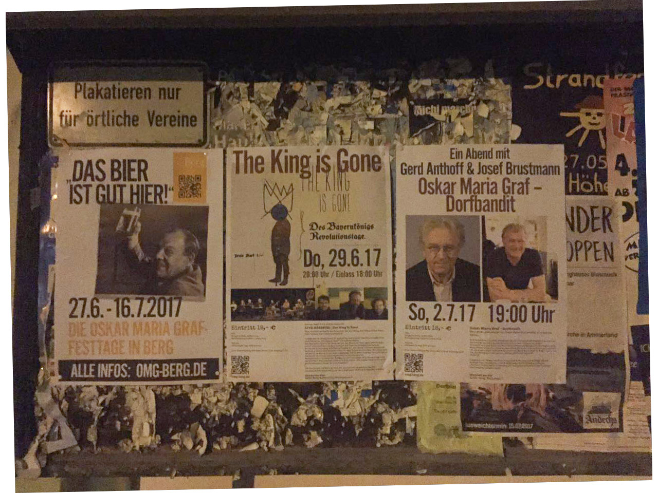 Oskar Maria Graf-Tage Plakatwand in Berg